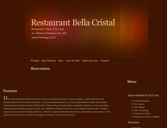 web poco efectiva para restaurantes